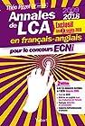 Annales de LCA en français-anglais pour le concours ECNi - En exclusivité les 2 sujets 2018