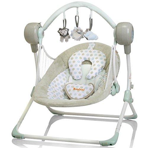 Elektrische Automatische Babyschaukel BANINNI Stellino Automatik Baby Wiege (Mint Breeze)