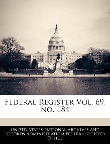 Federal Register Vol. 69, no. 184