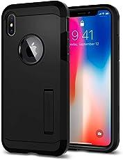 Spigen Tough Armor, iPhone Xs Hülle, iPhone X Hülle, Stoßabweisende Doppelte Schutzschicht Handyhülle für Extrem Fallschutz Schutzhülle Case für iPhone Xs / iPhone X (Schwarz) 057CS22160