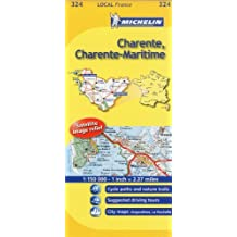 Michelin Map France: Charente, Charente-Maritime 324 (Maps/Local (Michelin)) (English and French Edition) by Michelin (2011-01-16)