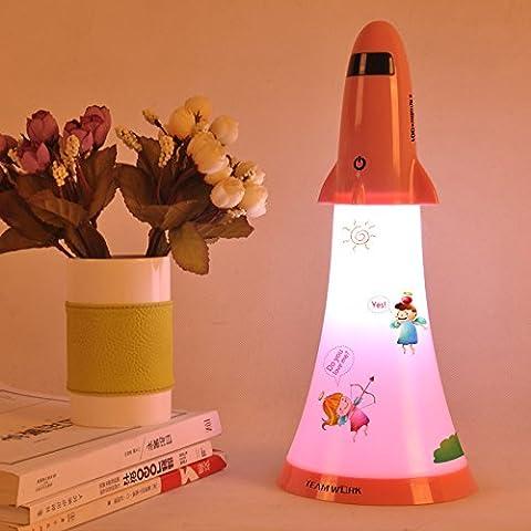 NASEN Touch dimmer dibujos animados lámpara de noche dormitorio recargable LED lámpara almacenamiento Apolo mesa lámpara de escritorio , love