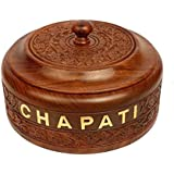Ck Handicraft Sheesham Wood Engraved Casserole Chapati Box For Kitchen