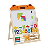 Best Toddler Easels - YeahiBaby Wooden Magnetic Jigsaw Puzzles Games Double Sided Review