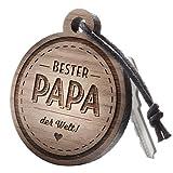 """Schlüsselanhänger aus Holz mit Gravur """"Bester Papa"""
