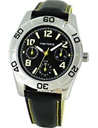 TIME FORCE Reloj De Pulsera Tf-4119B03 Cadete Acero Multifunicon 50M NEGRO