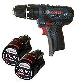 Bosch GSB 10,8-2-Li Schlagbohrschrauber mit 2x Akku 10,8V 2,0Ah ohne Ladegerät ohne L-Boxx aber mit L-Boxx Einlage