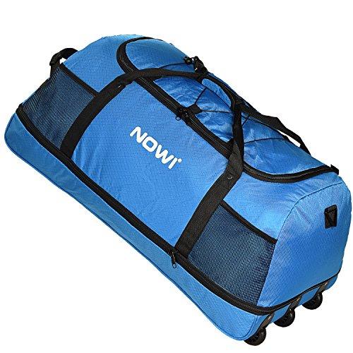 Nowi xxl borsone di viaggio con 3 rollen volumen 100-135 l 81 cm blau