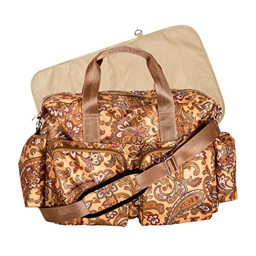 Trend Lab Paisley braun Deluxe Duffle Wickeltasche, Paisley Braun (Lab Trend-wickeltasche)