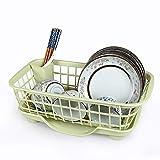LUGZZY051 Grand comptoir de Cuisine, Support de séchage pour évier avec Plateau à Couteaux Amovible et égouttoir avec Bec pivotant réglable