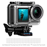 Wasserdichter Tauchkoffer für DJ Osmo Action Camera, Ersatz wasserdichter Gehäuse Schutz für DJI Osmo Sport Action, 45M Underwater Photography Diving Swimming, Camera Accessories Kit