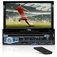 BOSS Audio BV9976B Car DVD Player - Single Din, Bluetooth Audio & Hands-Free Calling, Built-in Microphone, CD/MP3/USB/SD Aux-in, AM/FM Radio Receiver, 7 Digital LCD Display, Multi-color Illumination