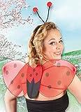Boland 52853 - Kostümset Marienkäfer, Haarreif und Flügel -