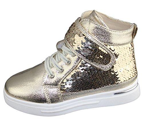 Komfort Mädchen Schuhe Babys causale Modus Rennen Markt von Trainer Stiefel Größe Golden Style 2
