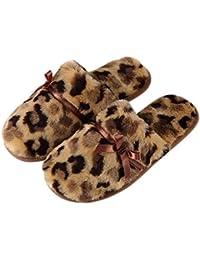 Pantofole Invernali Calde Ciabatte Casa Pattini per Donna Carine Pantofola  Imbottitura Calda Tessuto di Peluche Flanella 88539560b67