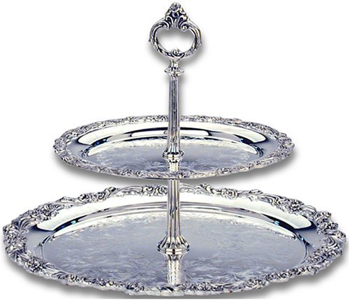 Reed & Barton Silver-plated Burgundy Collection 2 Tiered Server by Reed & Barton Server Reed