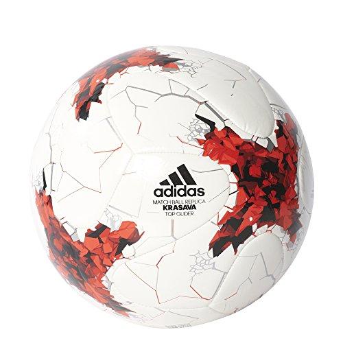 adidas Confedtopgli Balón de Fútbol Copa Confederaciones, Hombre, (Blanco/Rojo/Rojpot/Gritra), 5