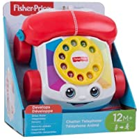 Fisher-Price FGW66 Chatter Telephone, Toddler Pull Along Toy Phone with Numbers and Sounds for 1 Year Old
