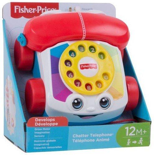 Fisher-Price Teléfono carita divertida, juguete bebé +1 año (Mattel FGW66)