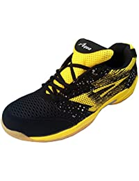 Aqua Sports Unisex Yellow Badminton Shoes