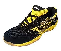 Aqua Sports Unisex Yellow Badminton Shoes(Size 6 UK/IND)