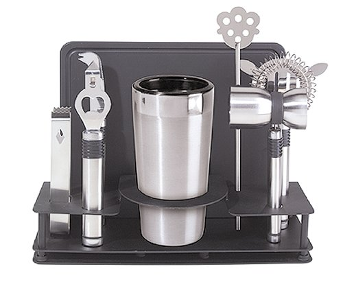 Oggi Pro Cocktail-Shaker und Bar-Werkzeug-Set, Edelstahl, 10-teilig Oggi Shaker