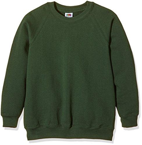 fruit-of-the-loom-ss024b-felpa-bambino-colore-verde-bottle-green-taglia-12-13-anni-taglia-produttore