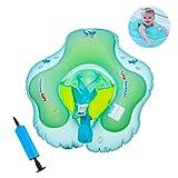 eizur bebé anillo de natación flotante inflable Niños Asiento de piscina anillo de baño flotador con asiento de seguridad piscina juguete flotador para 3mois-6años con inflador Manual, S
