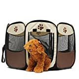 GENERICOxGord 45cm Pet Dog Cat Playpen Tent Portable Exercise Fence Kennel Cage Crate