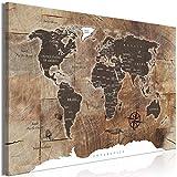 murando Mega XXXL Weltkarte Wandbild 165x110 cm - Einzigartiger XXL Kunstdruck zum Aufhängen Leinwandbilder Moderne Bilder Wanddekoration - Holz k-C-0050-ak-d