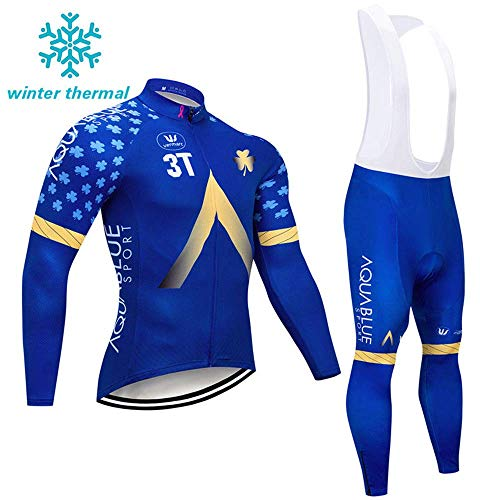 Giow Sweatshirt Radsport-T-Shirts für Langarm-Radtrikot, Radsport-Oberteile, Radsport-Shirts, Radsport-Trikot Winter Plus Velvet, Radsport-Anzug mit 3D-Gel-Polsterung