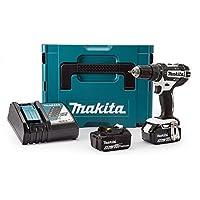 Makita DHP482RFWJ 18V 2x3.0Ah Li-Ion Lxt Combi Drill Makpac Kit, 1 Stück