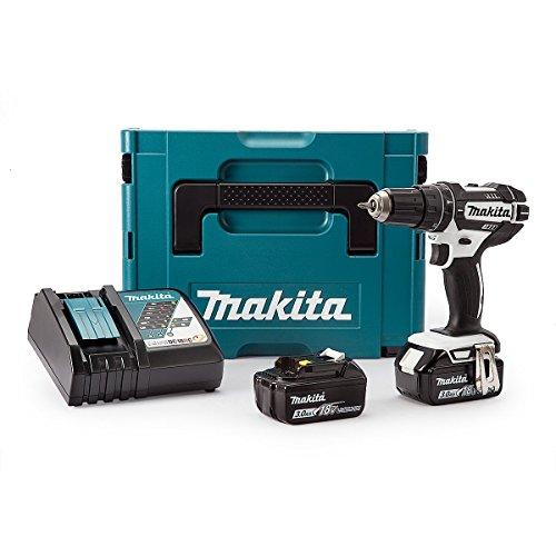 Preisvergleich Produktbild Makita DHP482RFWJ 18V 2x3.0Ah Li-Ion Lxt Combi Drill Makpac Kit, 1 Stück