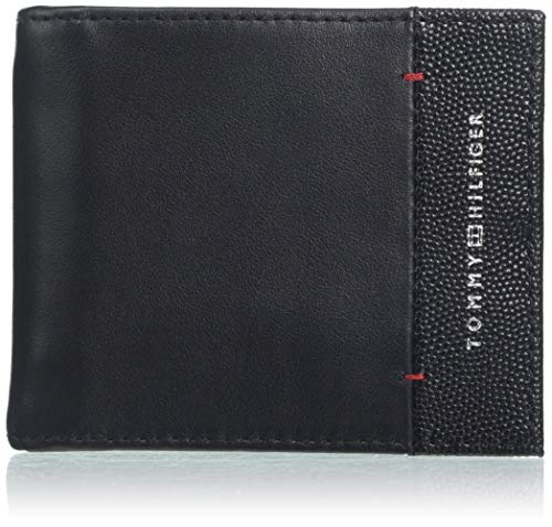 Tommy hilfiger th business mini cc wlt money c - portafogli uomo, nero (black), 2x9x11 cm (b x h t)
