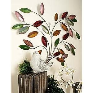 Deco 79 Metal Leaf Wall Decor, 49-Inch by 40-Inch