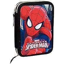 Spiderman - Plumier 12 doble, color rojo y azul (Montichelvo Industrial 29971)