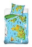 AHS Set di Biancheria da Letto per Bambini, con Copripiumino per Letto Singolo, 140 x 200 cm, 100% Cotone