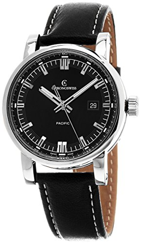 Chronoswiss Grand Pacific Automatic Stainless Steel Mens Strap Watch Calendar CH-2883B-BK/31-1