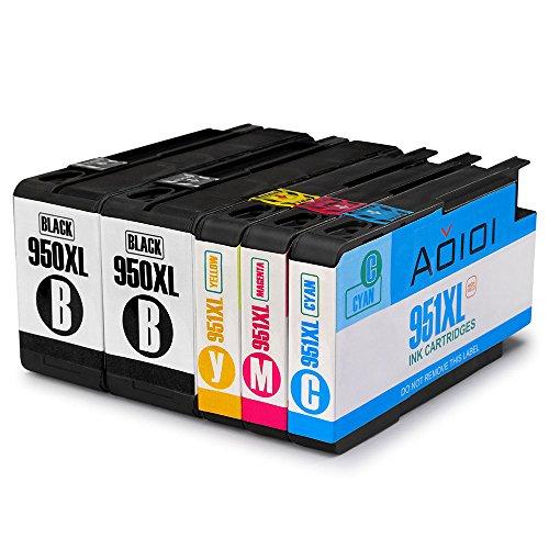 Preisvergleich Produktbild Aoioi Kompatibel 950XL Ersatz für HP 950XL 951XL Druckerpatronen, 2 Schwarz, Blau, Rot und Gelb 5er-Pack hoher Reichweite Kompatibel mit HP Officejet Pro 8620 8610 8600 Plus 276dw 8100 8615 251dw 8625 8660 8640 8630 Patronen