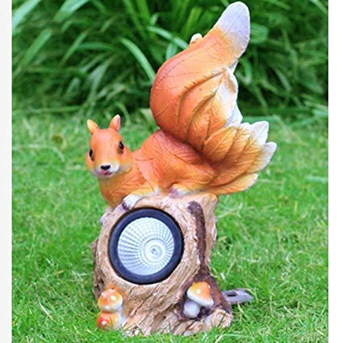 LOVEPET Sonnenlichtdekoration Für Eichhörnchen Im Freien Simulierter FRP Tierskulptur Gartengrasverzierung (Eichhörnchen-montage-kit)