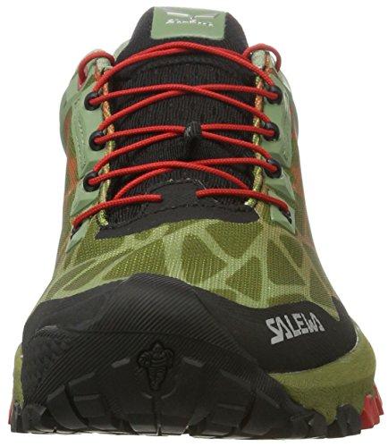 Salewa Herren Multi Track Gore-Tex Halbschuh Outdoor Fitnessschuhe Grün (OIL GREEN/Fluo Coral 5870)