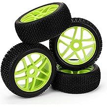 WEONE 17mm RC 1: 8 en el terreno neumáticos de coche rueda de estrella cubo de llanta T de grano (paquete de 4)