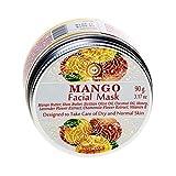 Gesichtsmaske, vegan - Anti Pickel, Mitesser Maske und gegen Akne - Anti-Aging Pflege für trockene und unreine Haut - für Gesicht und Körper, 90 g Facial Mask (Mango)