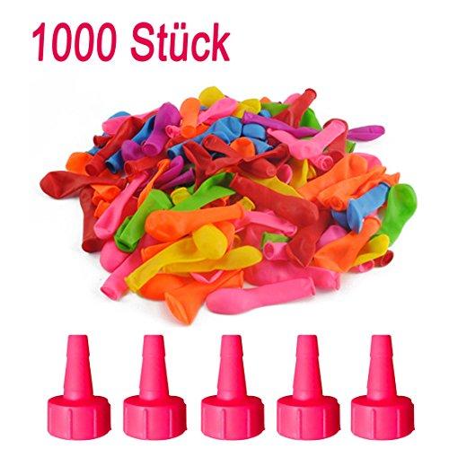 CT-Tribe 1000 Stück Wasserbomben Wasser Bomben Luftballons bunt Großverpackung in bunten Farben Wasserspielzeug Spielzeug für Kinder und Erwachsene