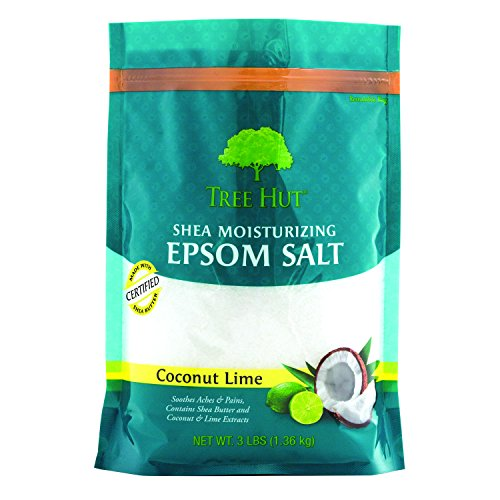 Tree Hut Shea Moisturizing Epsom Salt, Coconut Lime, NET WT.3LBS (1.36kg). by Tree Hut