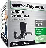 Rameder Komplettsatz, Anhängerkupplung abnehmbar + 13pol Elektrik für Suzuki Grand Vitara I (143272-04097-1)