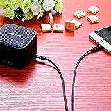 Aux-Kabel, Kinps 1,2m Nylon geflochten 3,5mm Audiokabel Klinke für auto,Kopfhörer,Lautsprecher, iPhone, iPad, iPod, Samsung, und MP3 Player. - 3