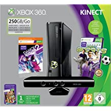 Xbox 360 250GB Console with Kinect Sensor: Includes Kinect Sports and Dance Central 2
