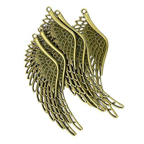 Homyl 6er Set Retro Bronze Flügel Anhänger Engelsflügel Schmuck Steam Punk Deko zum Basteln dekorieren (Charms Lesezeichen)