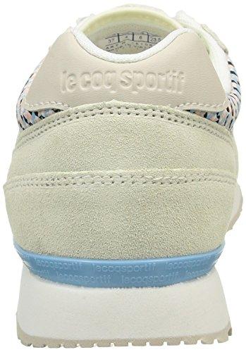 Le Coq Sportif Eclat W Geo Jacquard, Baskets Basses femme Blanc (Marshmallow/Tropical Peach)
